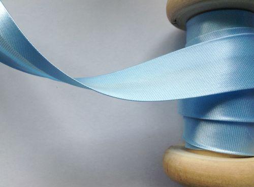 19mm Light Blue Satin Fabric Trimming