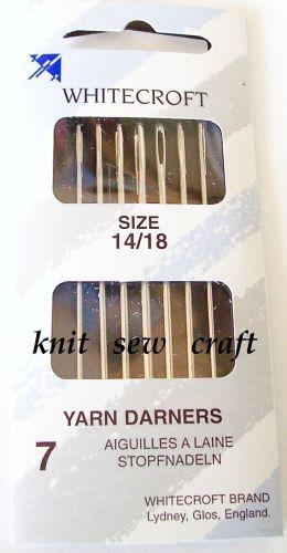 Darning Needles Whitecroft Pack of 7 Size 14/18
