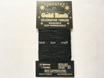 Metallic Sewing Thread - Black