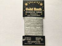 silver metallic glitter decorative sewing thread Lincatex 10 metres
