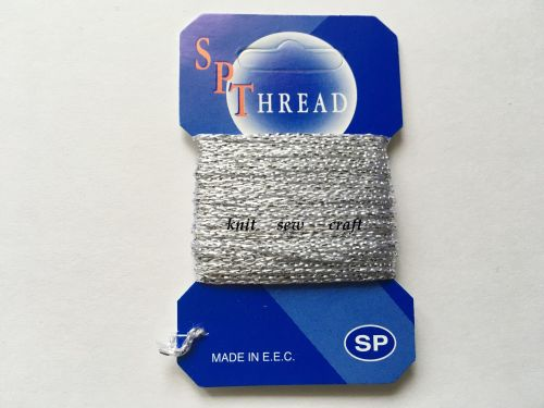 SP Glitz Decorative Glitter Thread Silver 10 Metres