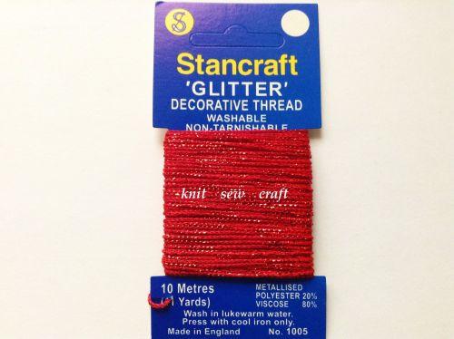 Stancraft Decorative Glitter Thread Red 10 Metres