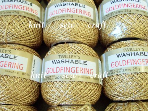 Twilleys Goldfingering No. 5 Metallic Crochet Thread - Light Gold