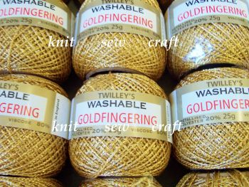 Twilleys Goldfingering Metallic Knitting And Crochet Yarn - Gold