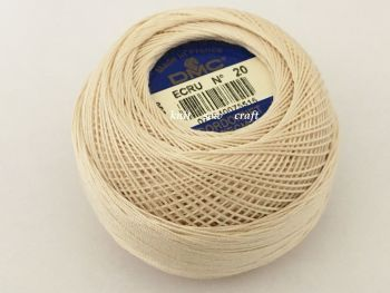 Cordonnet Special Size 20 Crochet Thread Lace Making Yarn 20g Ecru DMC