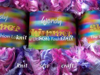 Wendy Shimmer Eyelash Wool – Jewel Pink