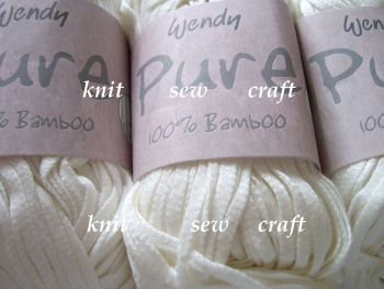 Wendy Pure 100% Bamboo Yarn - Milk
