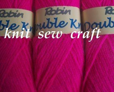 Robin DK Knitting Yarn – Fiesta Pink