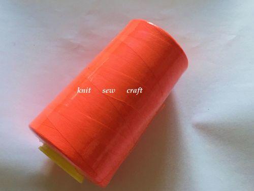 Fluorescent Red Overlocker Thread 5000 Yards Cone
