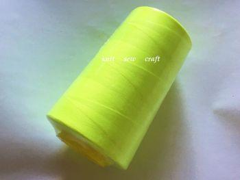 Fluorescent Yellow Overlocker Thread 5000 Yards Cone