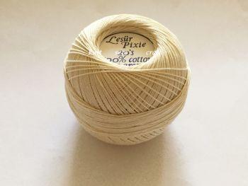 20s Ecru Crochet Thread 100% Cotton Lesur Pixie