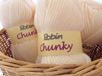 Robin Chunky Knitting Wool 100g Aran Cream 4035/041