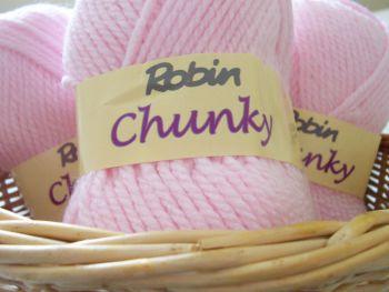 Robin Chunky Knitting Wool 100g Pink