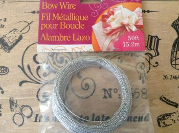 Darice Bowdabra Bow Making Wire 50 ft Pack, Silver