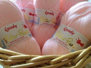 Wendy Peter Pan DK Knitting Wool Baby Pink 50g