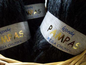 Wendy Pampas Mega Chunky Knitting Wool Graphite 100g