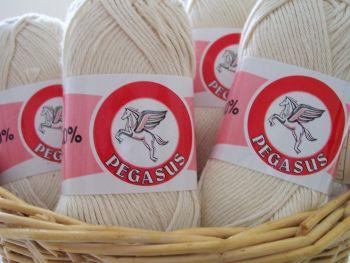Dishcloth Yarn 100% Cotton Natural Ecru