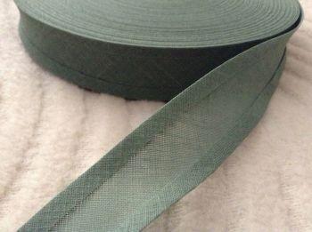 25mm Leaf Green Cotton Bias Binding