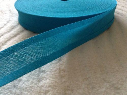 25mm Wide Kingfisher Blue Cotton Bias