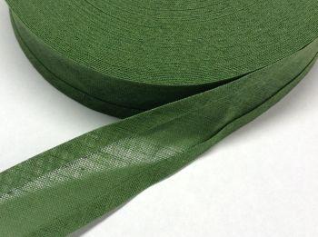 25mm wide sage green cotton bias binding tape