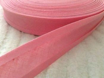 bias binding by the reel - rose pink - 50 metre reel