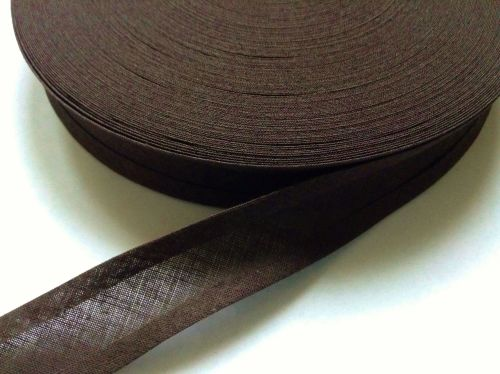 Dark Brown Cotton Bias Binding Tape - Reel