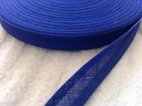 15mm Wide Royal Blue Cotton Bias Tape