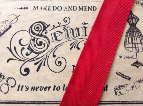 Red Tape For Aprons Pinafore Ties 25mm Wide