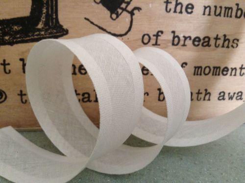 White Cotton Bias Binding Tape