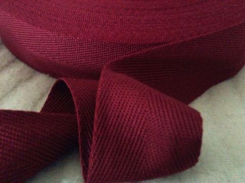 Maroon Blanket Binding Cherry Red Apron Tape 38mm Acrylic Webbing 1m
