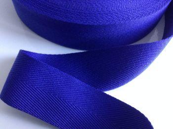 Herringbone Tape Royal Blue Webbing 25mm Acrylic Twill Bags Aprons 1m