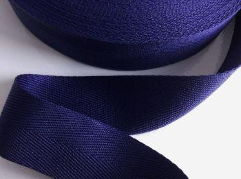 Dark Blue Apron Tape 25mm Herringbone Webbing Per Half Metre