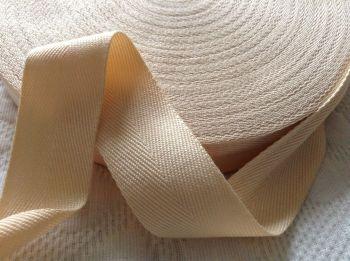 38mm Rich Cream Webbing Soft Woven Blanket Binding Tape