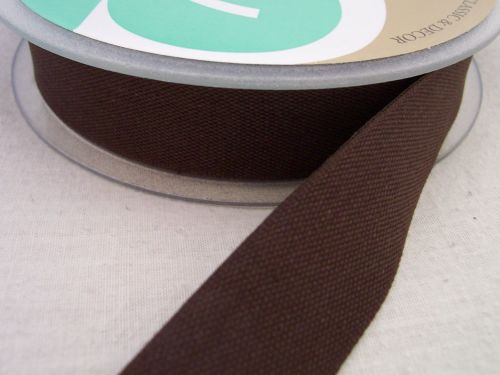 Brown India Tape 25mm Woven Cotton Twill - Aprons Bags