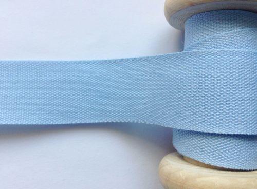 Light Blue Cotton Tape 25mm Apron Ties Bags Safisa 004