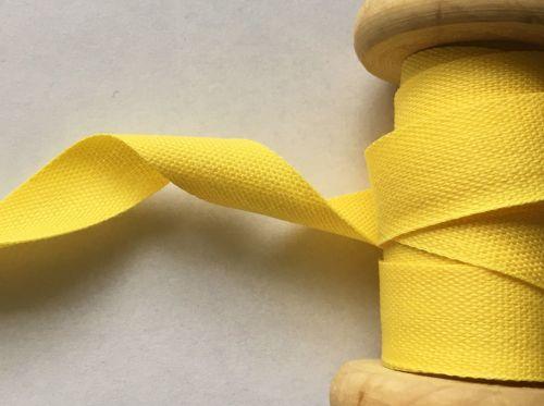 Yellow Cotton Tape 25 Metre Reel Safisa 14mm Wide