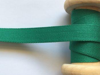 14mm Dark Green Cotton Tape Aprons Pinafores Ties Half Metre