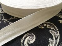 19mm Wide White Cotton Sewing Tape - 50 Metre Reel