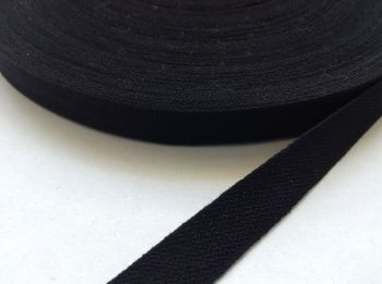 Black Bunting Tape 50 metres Twill Tape 13mm Wide