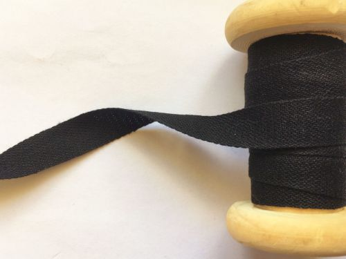 Black Cotton Tape for Aprons Bunting 10 metres Width 13mm