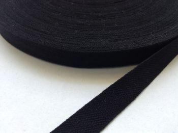 Black Cotton Tape 50 metre Reel Width 19mm