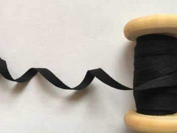 Cotton Tape 10 metres Black 6mm Wide Twill
