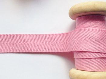 Light Pink Herringbone Pattern Woven 20mm Webbing Tape