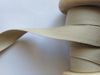 14mm Beige Cotton Tape Apron Ties Cushions Manubens 096