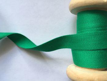 14mm Emerald Green Cotton Tape Apron Ties Cushions Manubens 060