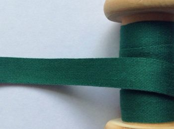 14mm Forest Green Cotton Tape Apron Ties Cushions Manubens