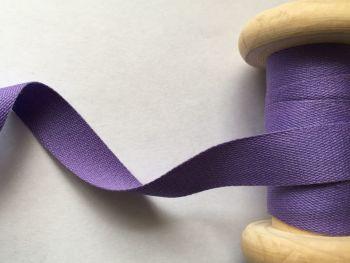 14mm Purple Cotton Tape Aprons Pinafores Ties Half Metre