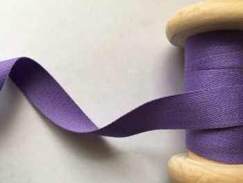 14mm Purple Cotton Sewing Tape - Aprons Pinafores Ties