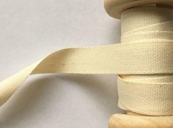 Apron Tape Width 14mm Manubens Natural Cream Slub Effect