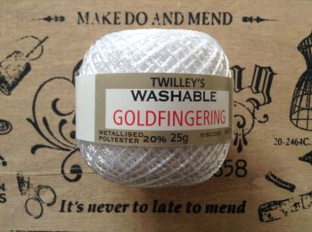 Twilleys Goldfingering Knitting And Crochet Yarn - White